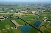foto of ponds  - Aerial of dairy and cropping farms in Canterbury South Island New Zealand - JPG