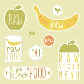picture of hands-free  - Raw vegan labels - JPG