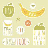 picture of vegan  - Raw vegan labels - JPG
