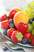 stock photo of apricot  - fresh fruits and berries - JPG