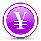 pic of yen  - yen violet icon  - JPG