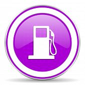 pic of petrol  - petrol violet icon gas station sign