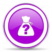 picture of riddles  - riddle violet icon 