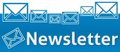stock photo of newsletter  - Newsletter concept image with text and related symbols on top - JPG