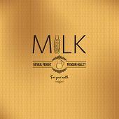 image of jug  - milk bottle jug design vintage vector background - JPG