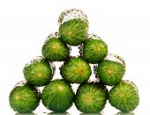 picture of food pyramid  - Fresh green cucumbers pyramid - JPG