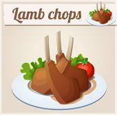 stock photo of lamb chops  - Lamb chops - JPG