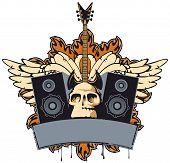 foto of speaker  - emblem with an electric guitar - JPG