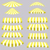 picture of canopy roof  - Yellow Tents Isolated on Grey Background for Your Design - JPG