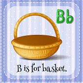 pic of letter b  - Flashcard letter B is for basket - JPG