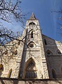 stock photo of illinois  - The Saint Mary Carmelite Church in Joliet - JPG