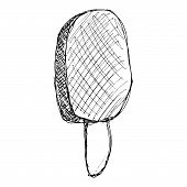 pic of lolli  - Hand drawn illustration of an ice lolly - JPG