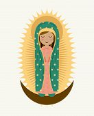 image of mary  - Holy Mary design over white background - JPG