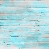 picture of decoupage  - Rustic old plank background in turquoise - JPG