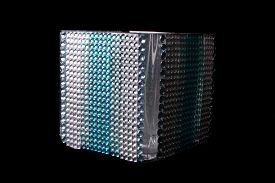 picture of tissue box  - A tissue holder box studded with gems and glass beads isolated on black background - JPG