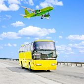 pic of land-mass  - By plane and by bus - JPG