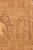 picture of isis  - Carvings on the wall of the Temple of Isis at Philae - JPG