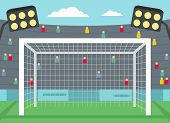 Football Gate Icon. Flat Illustration Of Football Gate Vector Icon For Web poster