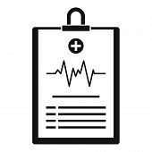 Cardiogram On Tablet Icon. Simple Illustration Of Cardiogram On Tablet Vector Icon For Web poster