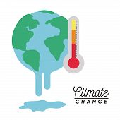 Effects Of Climate Change Vector Illustration Design poster