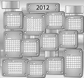 Постер, плакат: Календарь с всех месяцев 2012 года