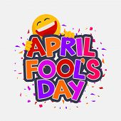 April Fools Day Illustration With Laughing Smiley. Vector Design For Banner, Greeting Card And Poste poster
