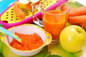 Carrot And Apple Puree For Baby