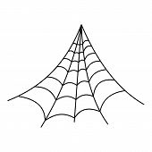 Strong Spiderweb Icon. Outline Illustration Of Strong Spiderweb Vector Icon For Web poster
