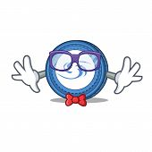 Geek Syscoin Character Cartoon Style Vector Illustration poster