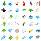Peaceful Place Icons Set. Isometric Set Of 36 Peaceful Place Vector Icons For Web Isolated On White  poster