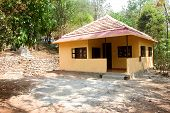 View Of Tourist Accommodation Cottage At Madhu Vana Near Bengaluru, Karnataka, India, Asia poster
