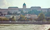 Historic Buildings On Buda Hill In Budapest poster