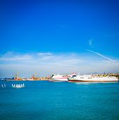 Heraklion, Crete Beautiful View To Harbor. Heraklion Koule, Fortress. Blue Sky And Turquoise Sea At  poster