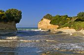stock photo of sidari  - Sidari beach area at Corfu island in Greece - JPG