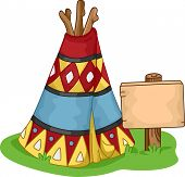 image of wigwams  - Illustration of a Colorful Wigwam - JPG