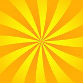 Sun Rays Background. Yellow Orange Radiate Sun Beam, Burst Effect. Sunbeam Light Flash Boom. Templat poster