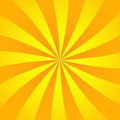 Sun Rays Background. Yellow Orange Radiate Sun Beam, Burst Effect. Sunbeam Light Flash Boom. Templat poster