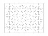 Puzzle Background. Jigsaw Blank White Puzzle Set For Design Projects Vector Line Collection. Pattern poster