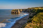 Magnesian Limestone Cliffs At Marsden Bay, Located Near South Shields, Consisting Of A Sandy Beach E poster