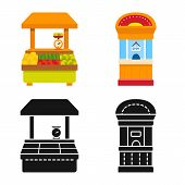 Isolated Object Of Amusement And Store Icon. Collection Of Amusement And Urban Stock Symbol For Web. poster