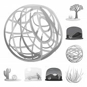 Vector Illustration Of Countryside And Pasture Icon. Collection Of Countryside And Nature Stock Vect poster