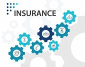 Insurance Infographics Vector Design. Timeline Concept Include Medical Insurance, Accident Insurance poster