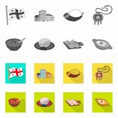 Isolated Object Of Culture And Sightseeing Logo. Collection Of Culture And Originality Stock Symbol  poster