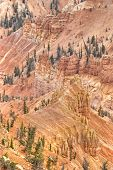 High Dynamic Range (Hdr) Impression Of Eroded Slope In Cedar Breaks