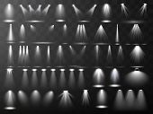 Scene Illumination Collection. Big Set Bright Lighting With Spotlights. Spot Lighting Of The Stage.v poster