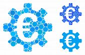 Euro Machinery Gear Mosaic For Euro Machinery Gear Icon Of Circle Elements In Different Sizes And Sh poster