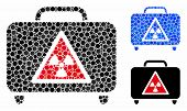Dangerous Luggage Composition For Dangerous Luggage Icon Of Small Circles In Variable Sizes And Colo poster