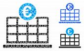 Euro Hotel Composition For Euro Hotel Icon Of Round Dots In Various Sizes And Shades. Vector Round D poster