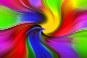 Colorful Abstract Texture - Twisting Of Rainbow Colors. Vivid Colored Swirl Twisting Towards Center. poster