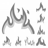 Vector Design Of Flaming And Danger Sign. Collection Of Flaming And Dangerous Vector Icon For Stock. poster